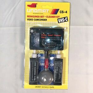 Video Head Cleaner VHS C Tape Camcorder Dust Brush Fluid Clean KIT Germany - A69