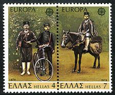 Greece 1293-1294a pair, MNH. EUROPA CEPT. Mailmen, Bicycle, Horse, 1979