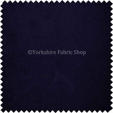 Designer Plain Midnight Blue Moleskin Velvet Soft Upholstery & Curtain Fabrics