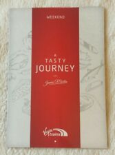 VIRGIN TRAINS EAST COAST WEEKEND MENU First Class Railway Dining Buffet Car Food