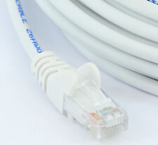 Network Cable 5m WHITE RJ45 LAN Patch Lead Cat 5e Ethernet