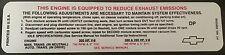 1970 Corvette Emission Label 390hp Code DP #3980209
