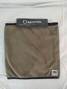 BRIXTON Mens Arctic Fleece Gaiter Military Olive Outdoor Activewear New With Tag