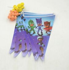 2.5 m PJ masks Paper Birthday Banner Flag Decoration Party Supplies.