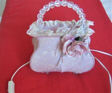 Pink handbag themed bedside lamp with 25W bulb included, undamaged, used