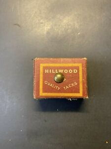 Vintage NOS 1930s Hillwood Quality Tacks In Original Box