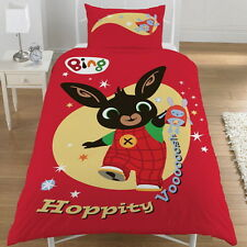Bing Bunny 'Hoppity Vooosh' Panel Single Bed Duvet Quilt Cover Set Brand New