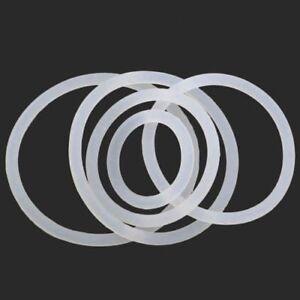 OD weiße Silikon-O-Ring-Dichtungen Dichtungen Gummidichtung Klemme frei 3mm-15mm