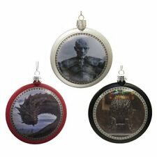 Game of Thrones New * Set of 3 Disc Ornament * Christmas Holiday Ornament Dragon