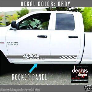 2x FITS DODGE RAM 4x4 OFF ROAD 1500 2500 Dakota Truck Decal Set Vinyl Stickers