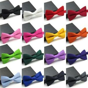 Men Bow Fashion Veektie Ties S Classic Gift Butterfly Wedding Party Solid Fly