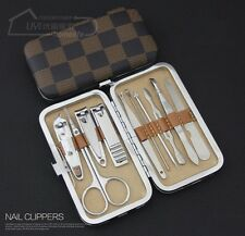 New 10 in 1 Stainless Nail Clipper Nipper Cutter Pedicure Manicure Set Kit Case