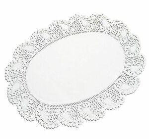 Tortenspitzen oval 16 x 23 cm 250 Stück weiß Tortendeckchen Tortenpapier