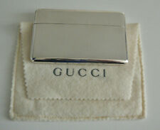 VINTAGE Etui porte carte visite Argent massif GUCCI Sterling Silver Card Holder