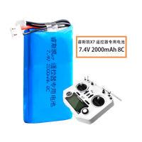 7.4V 2S 2000mAh LiPO Battery Pack for Frsky Taranis Q X7 Transmitter TX