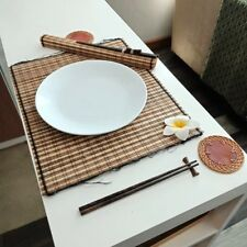 2 Set of Thai/Asian Bamboo Dining Table Placemats Set Chopsticks&Rest Coasters!