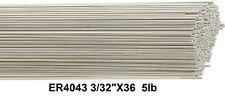 "Aluminum 4043 Tig Welding Rod ER4043 3/32"" 36"" 5Ib Box Tig Welding Wire 4043"