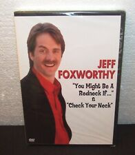 """Jeff Foxworthy """"You Might Be A Redneck if... """" & """"Check Your NecK"""" DVD - NEW"""