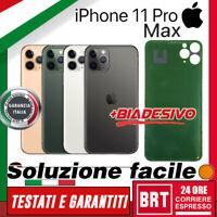 VETRO+BIADESIVO BACK COVER SCOCCA POSTERIORE per APPLE IPHONE 11 PRO MAX HOUSING