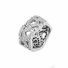 Ring 14K 3.75 Ct H SI2 Diamond Heart Shape 10 Grams Size 6