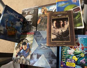 (8) Movie DVD LOT X-men Troy Shrek Pearl Harbor Walle Superman Terminator 2