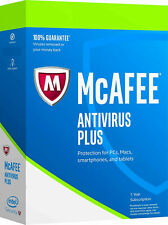 McAfee Antivirus PLUS 2020 - 1 PC 1 Year (eDelivery) Windows 8/10