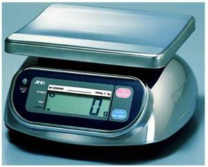 A&D  SK-1000WP Washdown Scale 1000 g x 0.5 g  NTEP NSF certified