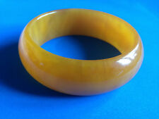 Bracelet Bakélite Vintage Orange Ambre / Bangle Bracelet