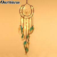 Horseshoes Dream Catcher LED Lights Up Kids Room Wall Hanging Fairy Dreamcatcher