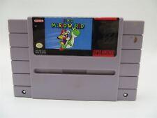 Super Nintendo SNES Super Mario World Video Game Cartridge