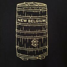 New Belgium Brewing Beer T Shirt Men Xl Nwot Black w/ Wood Oak Foeder Barrel New
