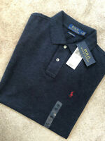 RALPH LAUREN NAVY CUSTOM SLIM FIT S/S POLO SHIRT TOP USA MODEL - L - NEW TAGS