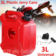 Portable 3L Jerry Can Gas Diesel Fuel Tank Pack w/ Lock ATV Motorcycle Scooter