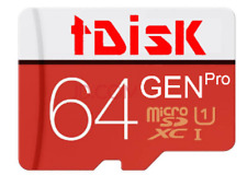 tDiSK MicroSD Card 64 GB (Memory Card- Pay Less for More Digital Storage Space)