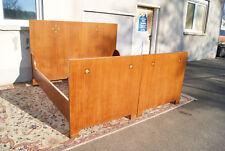*+ Jugendstil Art Deco Bauhaus Doppelbett Bett in Mahagoni +*