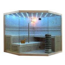 EO-SPA Sauna E1101B Pappelholz /200x200/ 9kW Cilindro