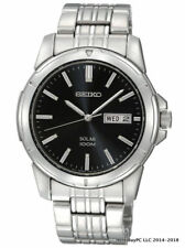 NEW Seiko SNE093 Core Black Dial Stainless Steel Men's Watch MSRP $205