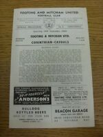 24/09/1960 Tooting And Mitcham United v Corinthian Casuals  (Four Pages). Thanks
