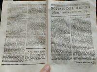 1779 NOTIZIE DEL MONDO: GUERRA STATI UNITI A CHARLESTOWN; TRASIMENO; GIBILTERRA