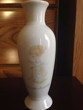 "1985 Precious Moments ""The Lord Will Provide"" Vase"
