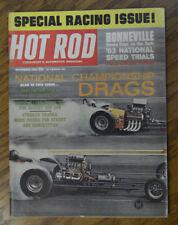 HOT ROD 1963 NHRA NATS DRAG RACING POWER BOAT BONNEVILLE VTG HALIBRAND 32 FORD