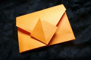 Envelope paper handmade, Envelope origami, Orange envelope