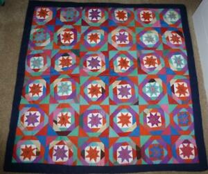 Handmade Quilt Wall Hanging Stars Patchwork Gorgeous!