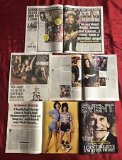 Ronnie Wood Rolling Stones Event Magazine clippings Cuttings 10/11 Mick Jagger