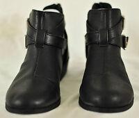 girls black cut out half boots by Candie's MSRP $60 size 4 heel zipper brand ne