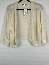 New With Defect Love Squared Women's Size 3X Shrug Cardigan Ivory