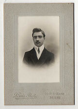 PHOTO - CABINET - Homme Moustaches Cravate - Louis Phot. à Paris - Vers 1900