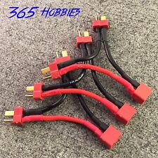 QTY-(3) Deans 2-Male to 1-Female Series Connector Adapter Double Voltage LiPo