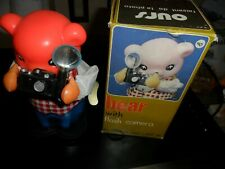 1975 China Ms575 Bear & Flash Camera Wind Up Battery Operated Tin Toy Figure Box