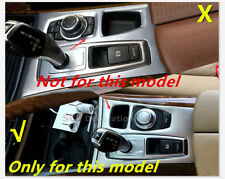 For Bmw X5 E70 2007 2008 2009 Stainless Interior Gear box Panel Cover Trim 1pcs